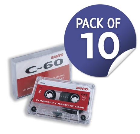 Sanyo C60 Standard Dictation Cassettes 10pk -0