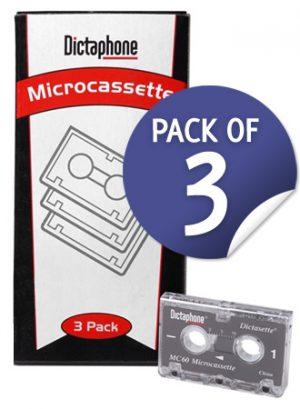 Dictaphone Microcassettes 3pk DTP-877179-0