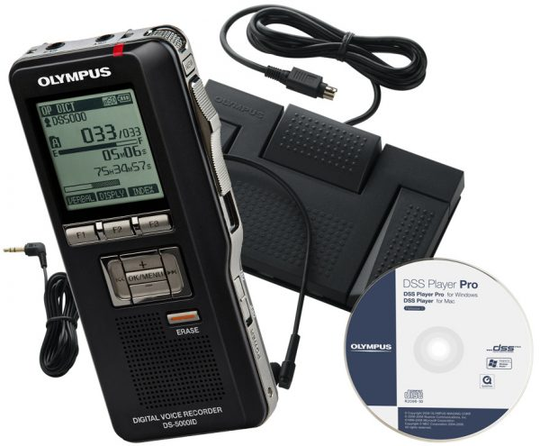 Olympus DS-5000 & AS-5000 Digital Dictation Bundle-0