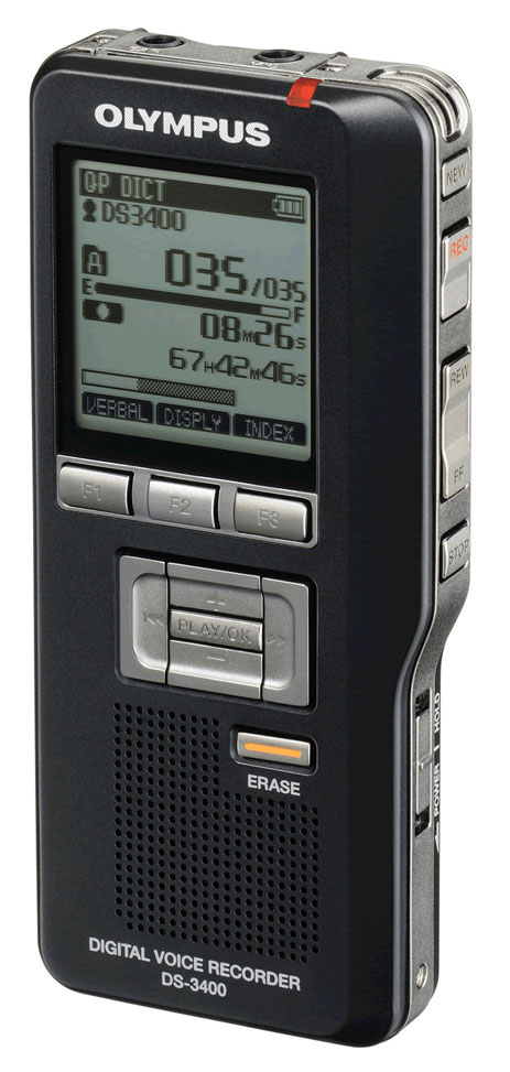 Olympus DS-3400 Digital Voice Recorder-0