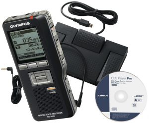 Olympus DS-3400 & AS-5000 Digital Dictation Bundle-0