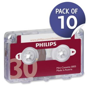 Philips Dictation LFH0005 Mini Cassettes 10pk-0